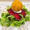 Recipe: Panfried Salmon, Lentils, Beetroot Carpaccio and a Smoked Salmon Scotched Egg