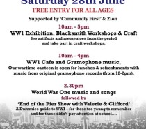 World War 1 day at Zion: Saturday, June 28th