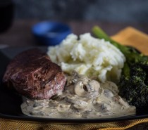 Recipe: Venison haunch steaks with stroganoff sauce