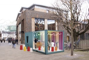 CUPP shipping container cafe
