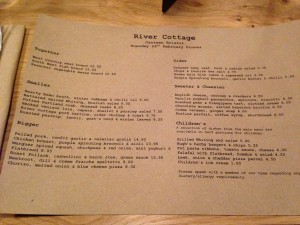 River Cottage Menu