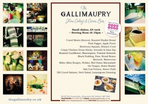 Gallimaufry Small Dishes Menu