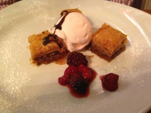 Mezze at The Anchor - Ginger Baklava