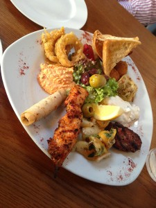Mezze at The Anchor - Mixed Starter Plate
