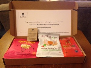 Honest snack box - contents