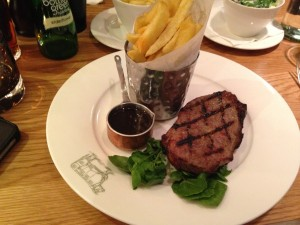 Sirloin steak at Graze