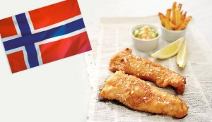 Norwegian cod and chips