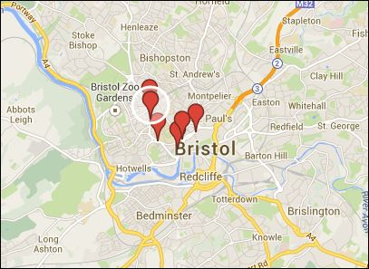 Bristol Bites Review Map