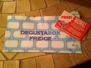 August 2014 Degustabox fridge