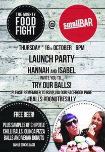 Mighty Food Fight launch flyer