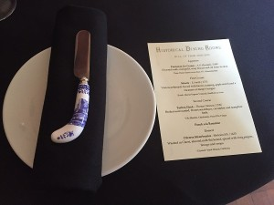 Historical Dining Rooms - Menu and butter knife