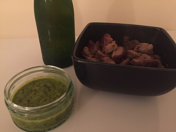 Alhambra Reserva 1925 - Anchovy lamb and green sauce