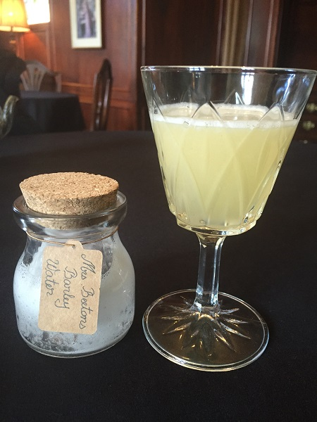 Historical Dining Rooms Afternoon Tea - Lemon and Barley Syrup