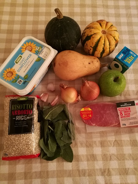 Healthy risotto ingredients