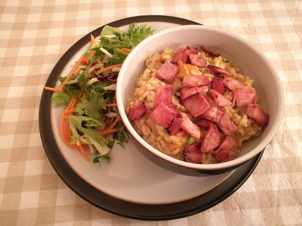 Squash, bacon, sage and apple risotto 1