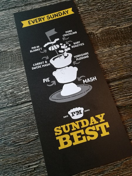 Pieminister Sunday Best - menu