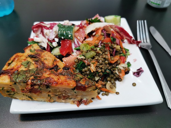 Cafe Refectoire - Chorizo Tortilla and Salad