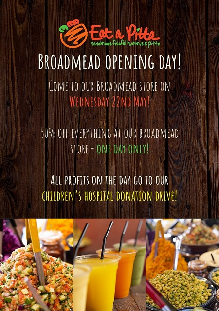 Eat A Pitta Broadmead Reopening