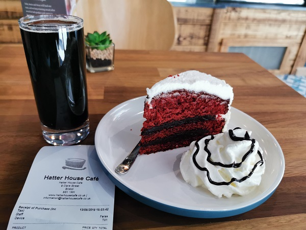 Hatter House Cafe - Nitro Cold Brew and Red Velvet Cake