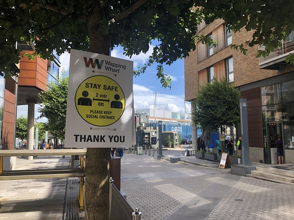 Wapping Wharf reopens after lockdown