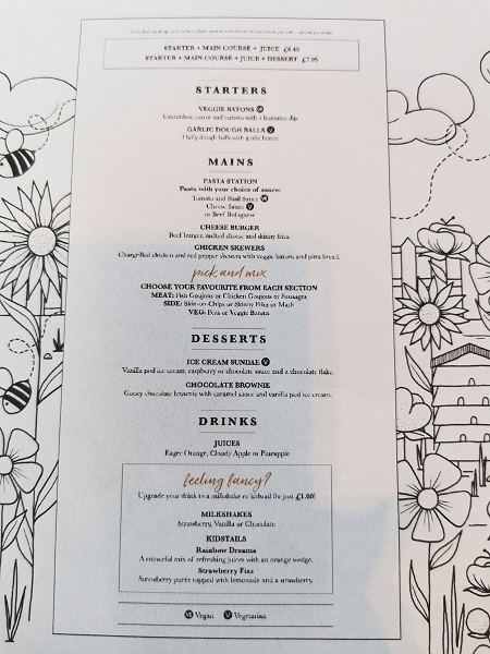 Pitcher & Piano Bristol Bottomless Brunch - Kids' Menu