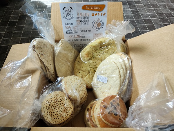 Earth and Wheat bread subscription box - Contents with Leaflet