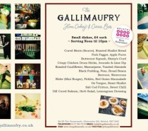 Brand new 'small plates' menu at The Galli