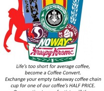 Ape About Coffee offering deal to those who drink chain brand coffee…