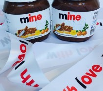 Personalised Nutella jars available at Harvey Nichols Bristol