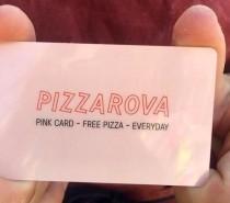 Win free Pizzarova pizza for life on November 5th!