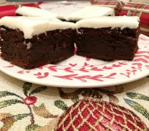 Recipe: Christmas pudding brownies with sherry cream cheese frosting