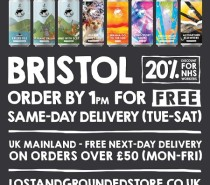 FREE same-day Bristol delivery from Lost and Grounded!