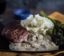 Recipe: Venison haunch steaks with stroganoff sauce