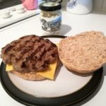 Burgers with Tracklements Strong Horseradish Cream