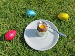 Cheesecake dippy eggs